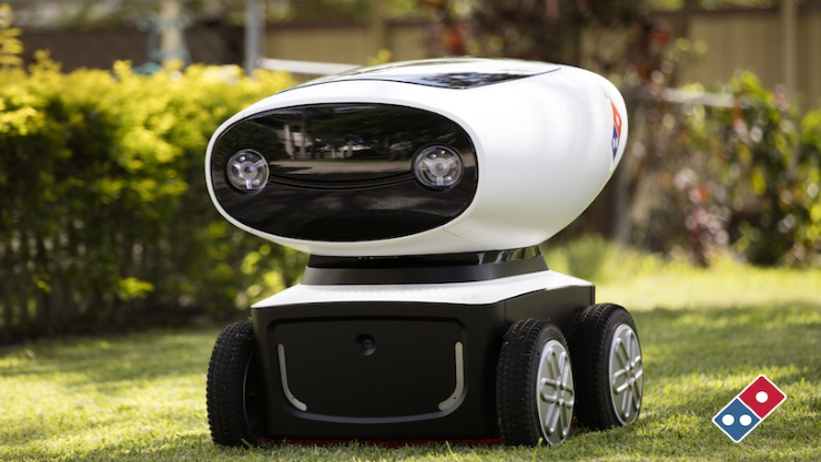 domino s pizza introducing autonomous robot shipments. Black Bedroom Furniture Sets. Home Design Ideas